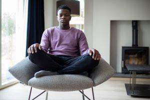 Young African American man practicing mindfulness skill   Comprehensive DBT Program for Borderline Personality Disorder   Alpharetta, GA 30022 - Atlanta, GA area